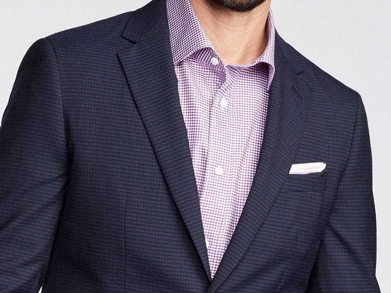 Indochino Colburn Micro Check Midnight Suit