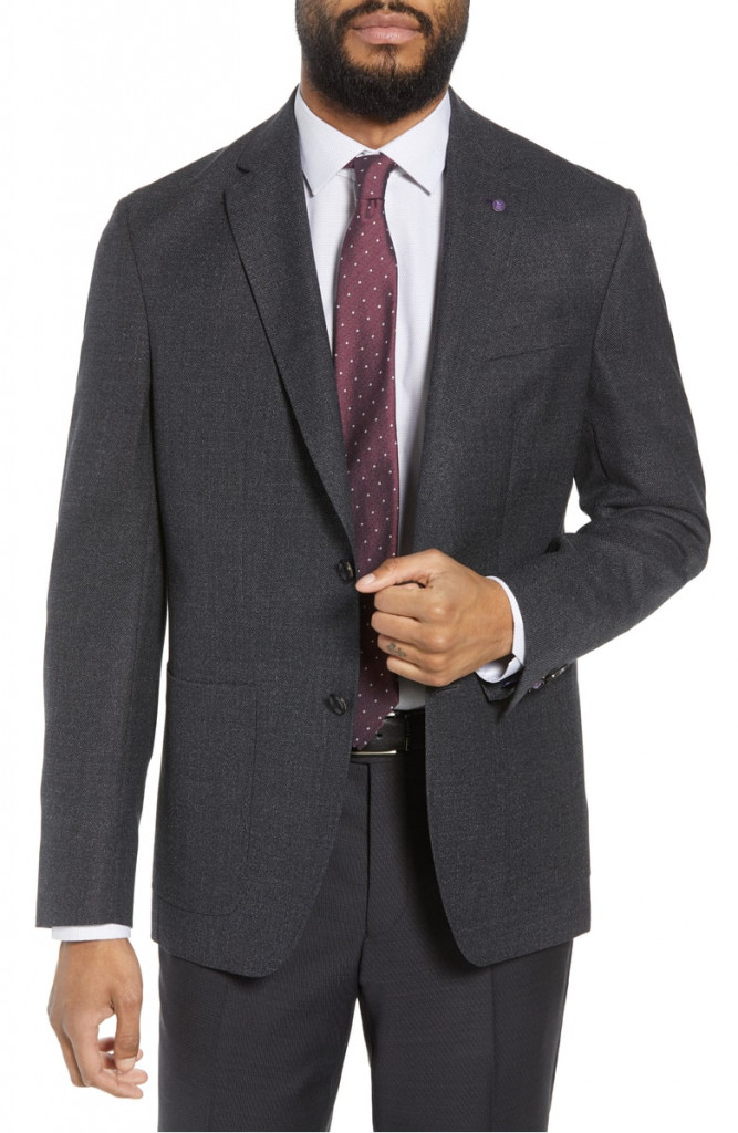 Ted Baker London Kyle Trim Fit Solid Wool Suit