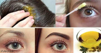 USE THE CASTOR OIL ON EYEBROW AND EYELASHES