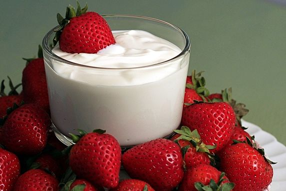 Strawberries, And Yogurt