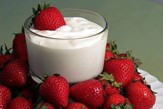 Strawberries, And Yogurt