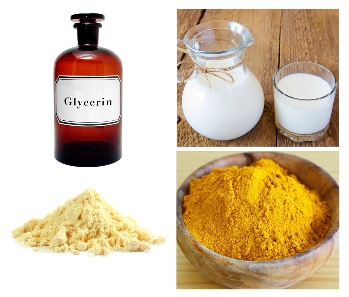 Turmeric And Glycerin For Skin Whitening
