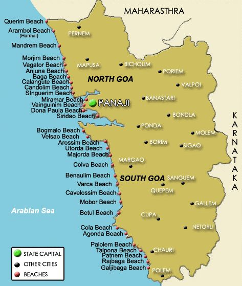 location of goa