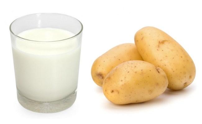 Apply Raw Milk And Potato Juice On Face