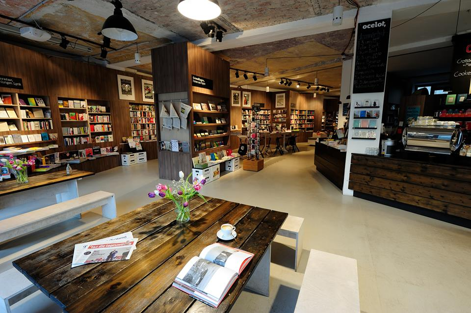 Combination Of Bookshops And Cafes