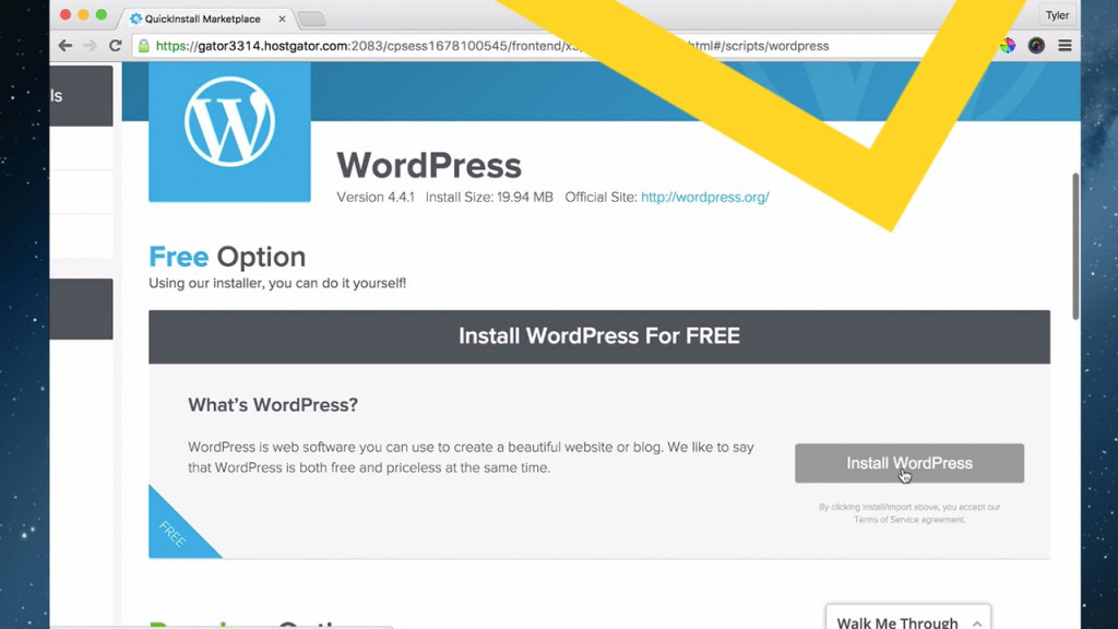 Install WordPress on cPanel