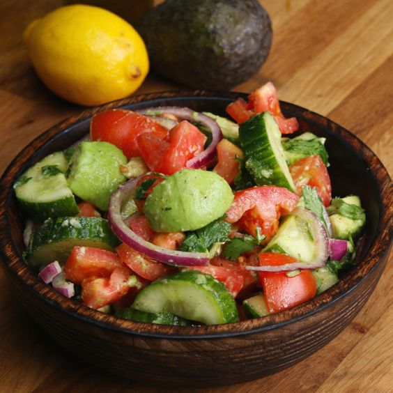 Cucumber Avocado & Tomato Salad