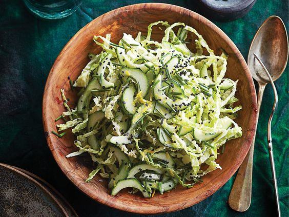 Eat Cucumber & Cabbage Salad Daily