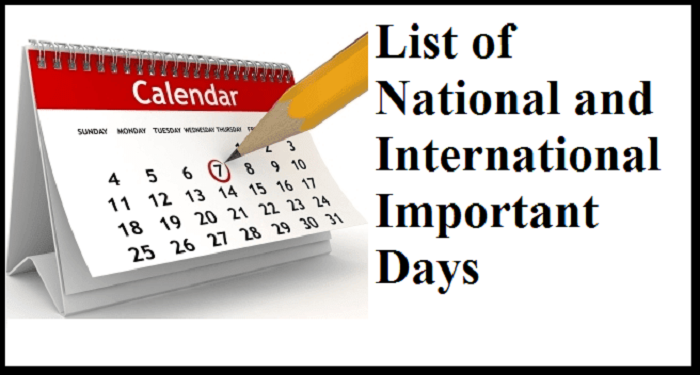 Month Wise World Important Days