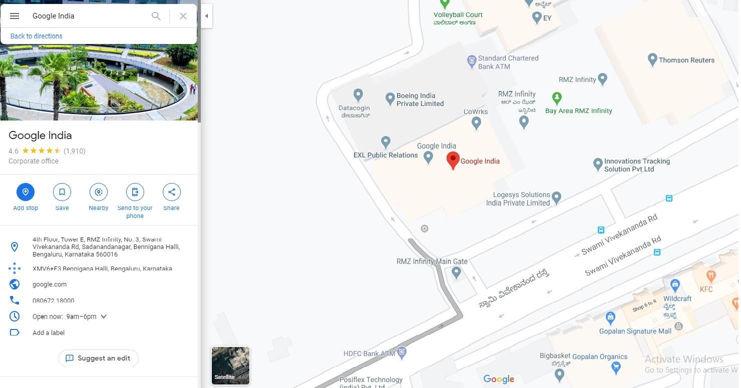 google office bengalore