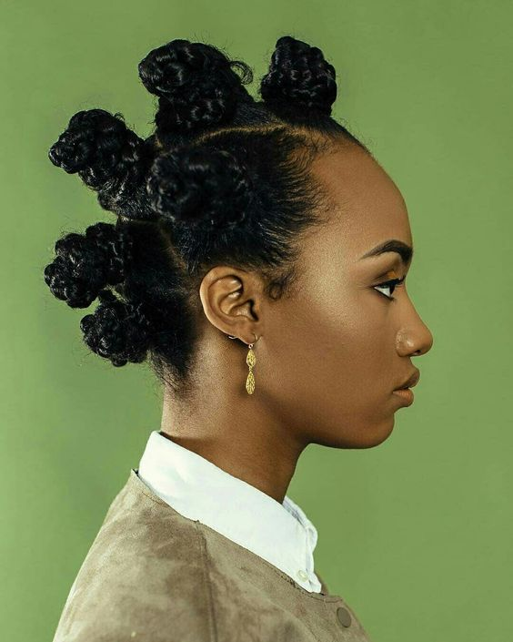Defensive Bantu Knots With Braided Hairstyles With Weave