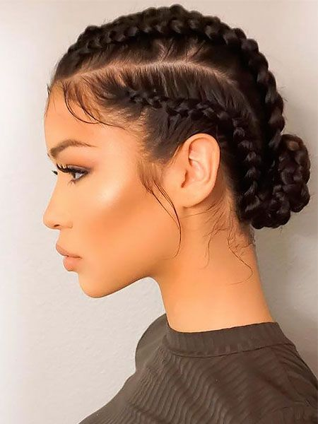 emotional Low Bun Style With Braided Hairstyles With Weave