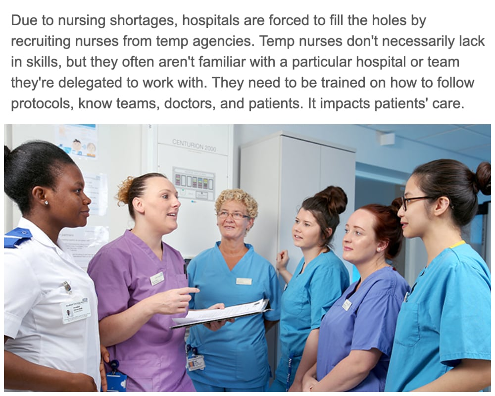 Hospitals Habitually Recruit Temporary Nurses